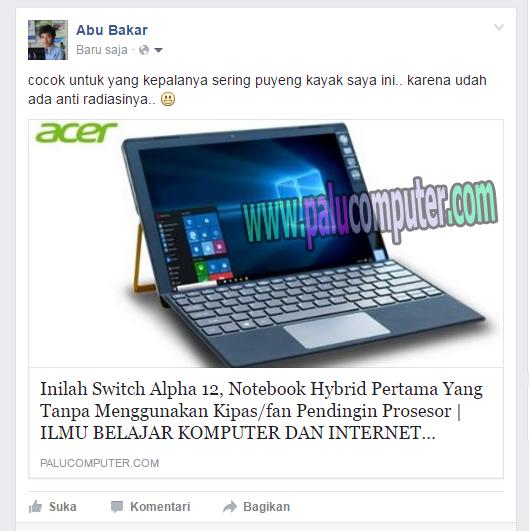 share link artikel di fb