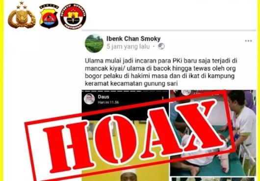 Polisi Buru Penyebar Hoaks Pembacokan Ustad di Gunung Sari