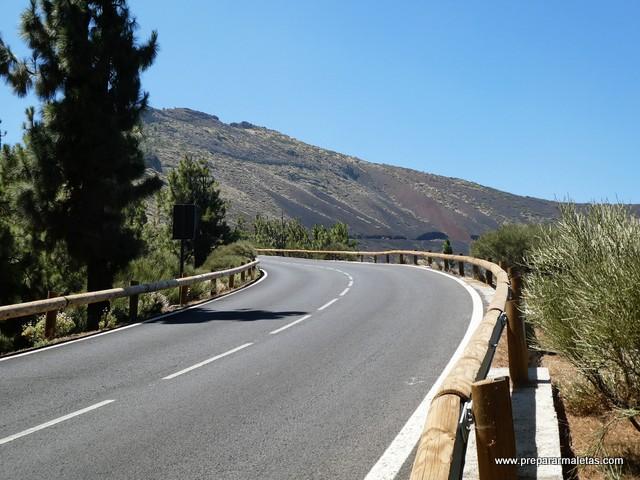 subida en coche al Teide