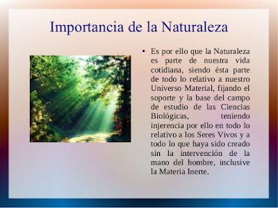 Importancia de la Naturaleza