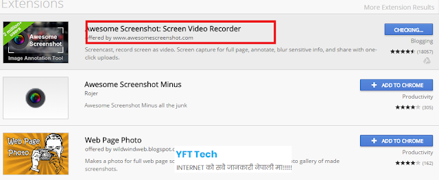 Awesome Screenshot,Chrome Extension Details in nepali