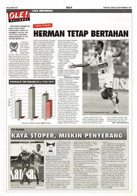 LIGA INDONESIA: SEMEN PADANG HERMAN TETAP BERTAHAN