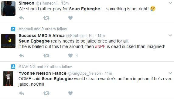 Do you agree with him? That Seun Egbegbe should be jailed