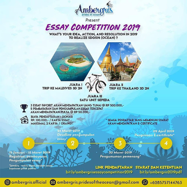 Lomba Ambergris Essay Competition 2019 Umum