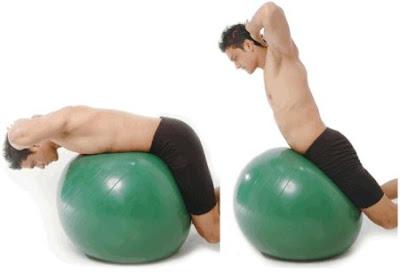 ejercicios abdominales fitball