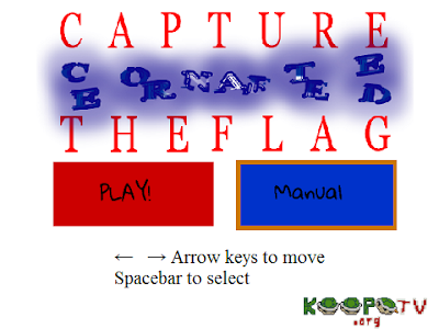 Capture the Confederate Flag title screen videogame KoopaTV