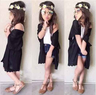 Gaya Berpakaian Anak Perempuan Modis