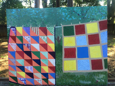 "Caryl Lynne's Crafts: ""Quilts"" Painting"