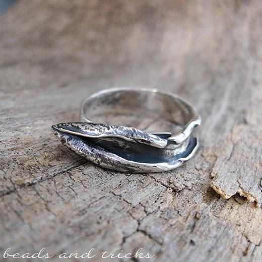 Anello in argento 800 di recupero, forgiato a mano