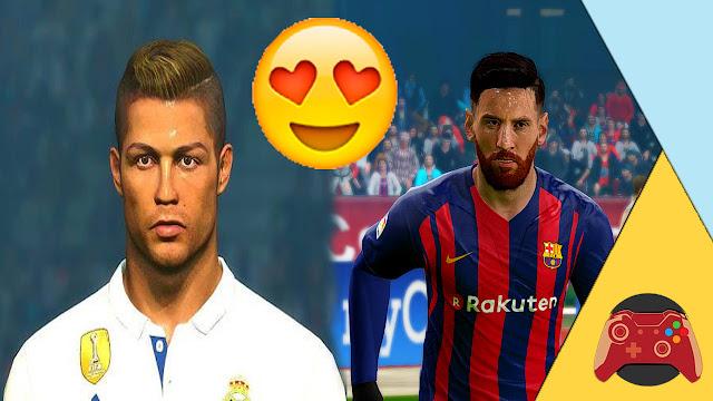 حصريا :  تحديث وجه ليونيل ميسي و كريستيانو رونالدو إلى الشكل الجديد الخرافي في لعبة PES 2017