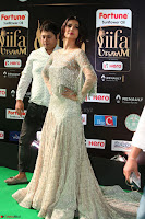Sonal Chauhan in a stonework Floor Length Silver Designer Gown at IIFA Utsavam Awards March 2017 049.JPG