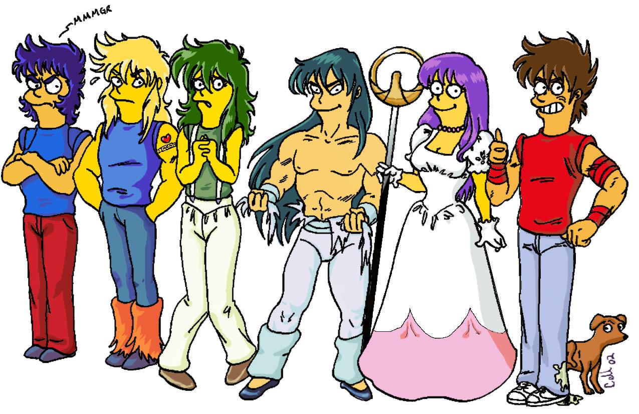 """Saint Seiya en la versión de """"Los Simpson"""""""