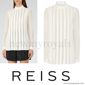 Kate Middleton wore REISS Vinnie Shirt