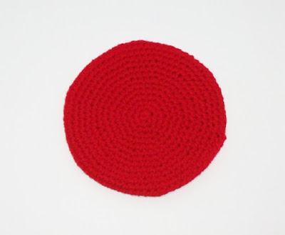 Tomato Slice Potholder for Crocheted Cheeseburger Potholder Set