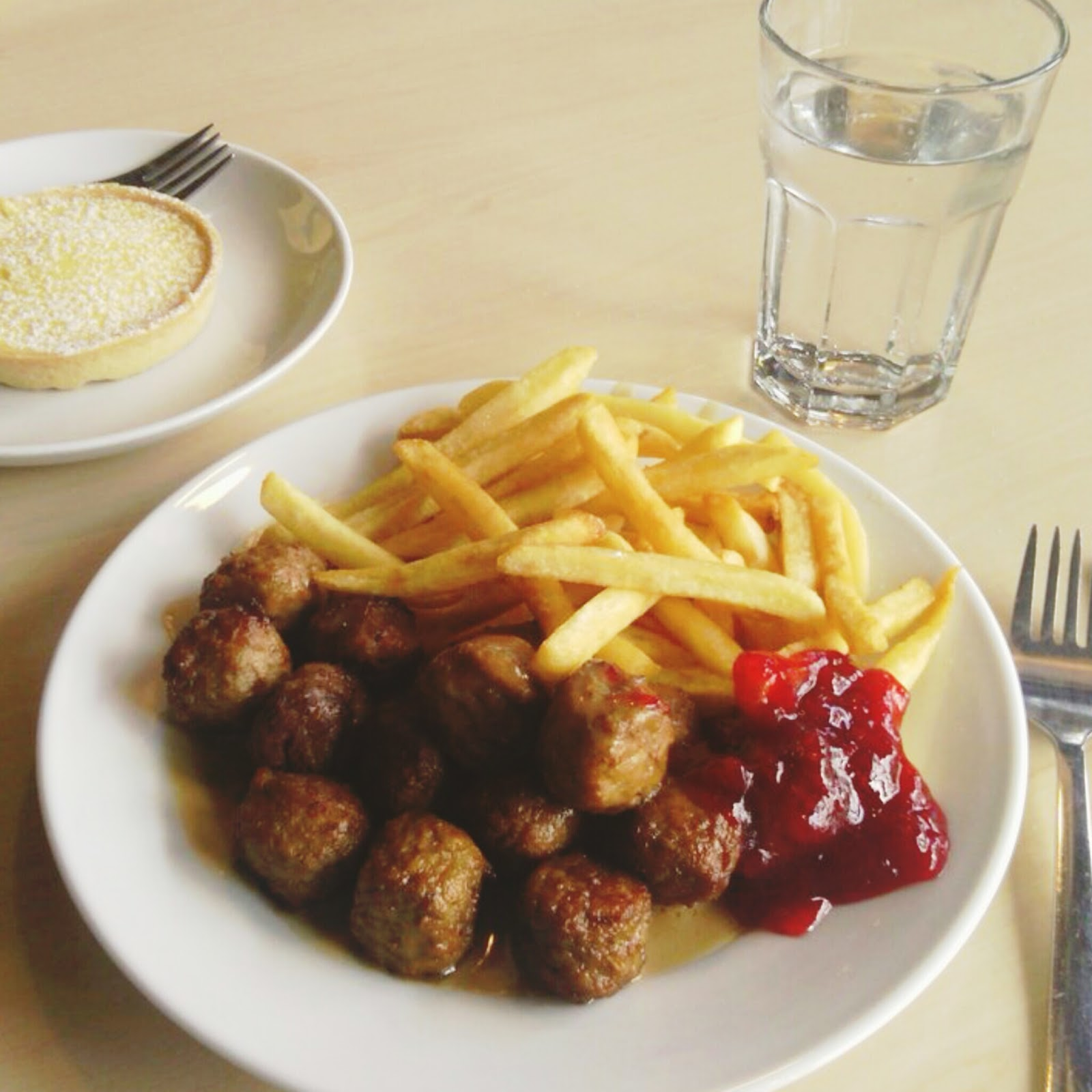 Around Here - Ikea meatballs for lunch.