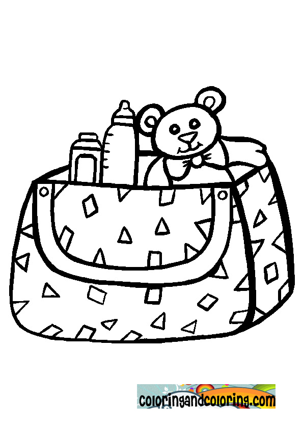 baby bottles and toys coloring pages - photo #16