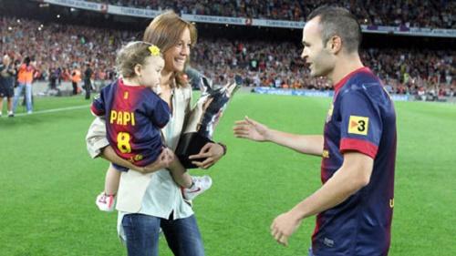 Iniesta và vợ đã có một công chúa 3 tuổi