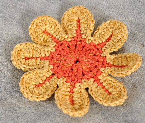 Patrón #1651: Flor a Ganchillo