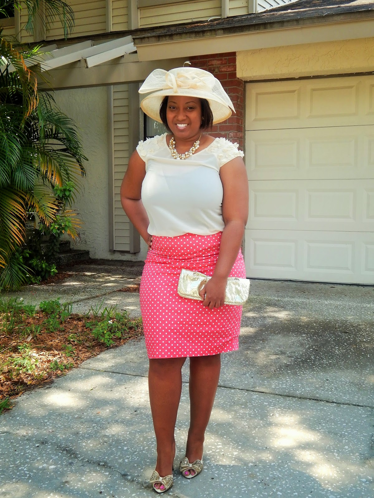de39c275b567b I decided to wear a church lady hat lol for the occasion. I love hats
