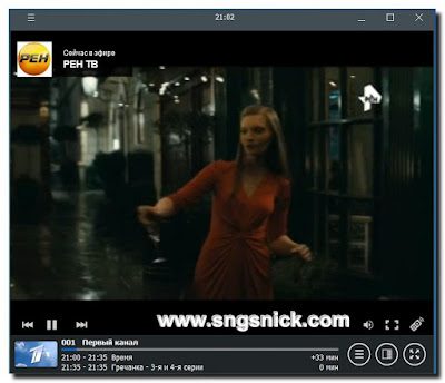RusTV player 3.2 - Пример воспроизведения канала