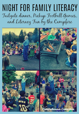 Night for Family Literacy brings in the excitement children feel about football in the fall. This event has been very popular with our school. We includes a tailgate dinner, pickup football games, and literacy fun by the campfire.