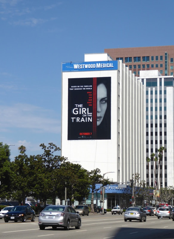 Giant Girl on the Train billboard