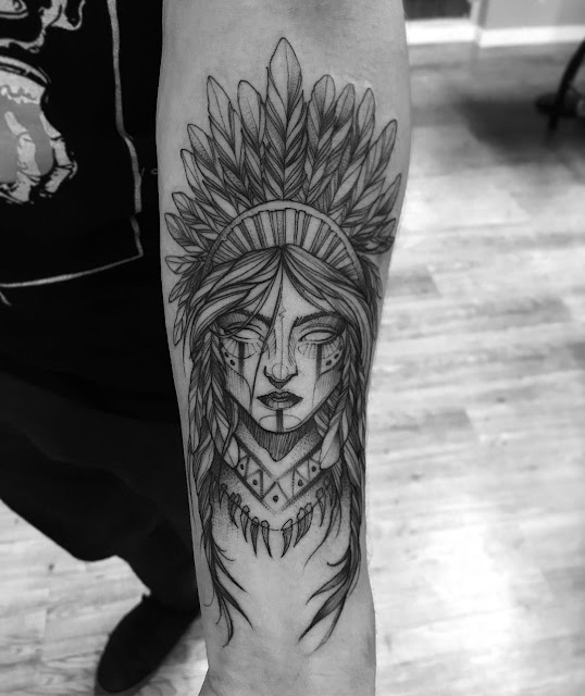 Tatuagem India Blackwork
