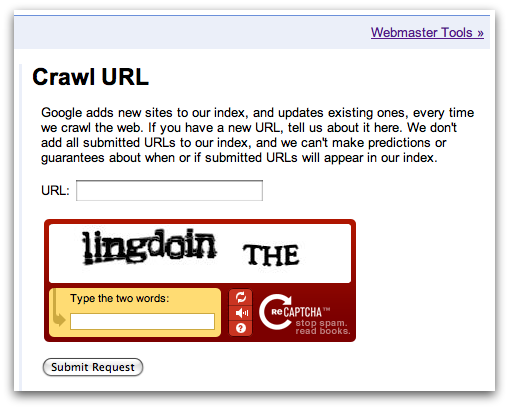 Official Google Webmaster Central Blog: Submit URLs to Google with