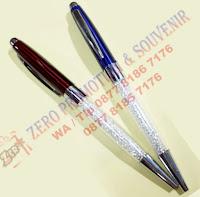 Souvenir Pen besi Crystal polos