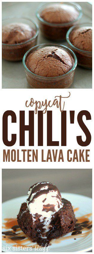COPYCAT CHILI'S MOLTEN LAVA CAKE RECIPE #copycat #chili's #molten #lavacake #cake #lava #cakerecipes #easycakerecipes #dessert #dessertrecipes #easydesserrecipes