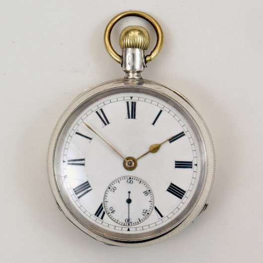 An early Ehrhardt crown set watch based on a Waltham idea.
