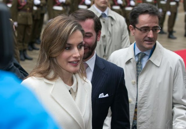 Princess Stephanie de Lannoy, Queen Letizia of Spain, King Felipe VI of Spain, Grand Duke Henri of Luxembourg, Grand Duchess Maria Teresa of Luxembourg and Prince Guillaume, Hereditary Grand Duke of Luxembourg