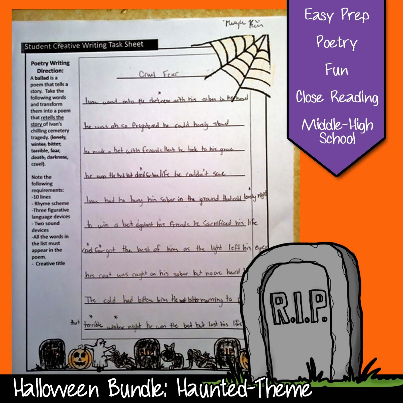 Top Five Favorite Halloween English Lessons For Middle Or