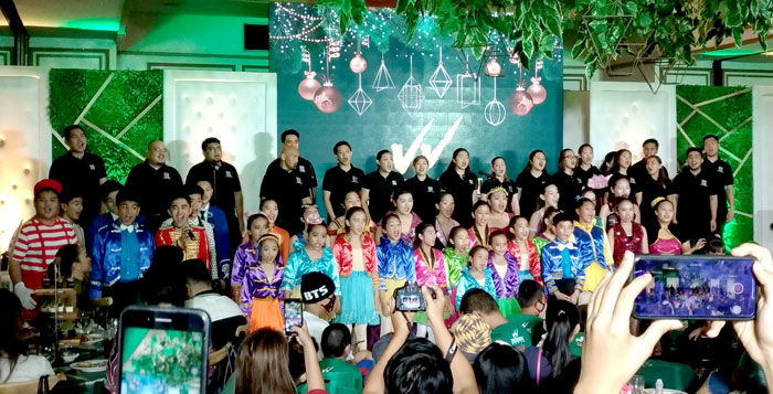 Himig Singers of Davao, Songspell Philippines and  Siningtala   rendered beautiful song and dance numbers for the night's guests