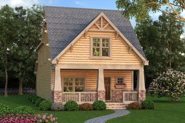 mały dom w stylu amerykańskim