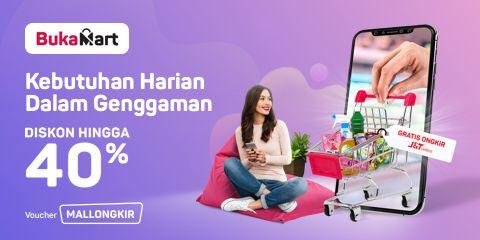 Bukalapak - Promo Voucher Diskon 40% Belanja Bulanan di BukaMart