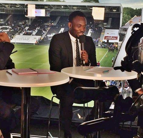 Michael Essien Starts Work As Football Pundit On Saudi TV (Photo)