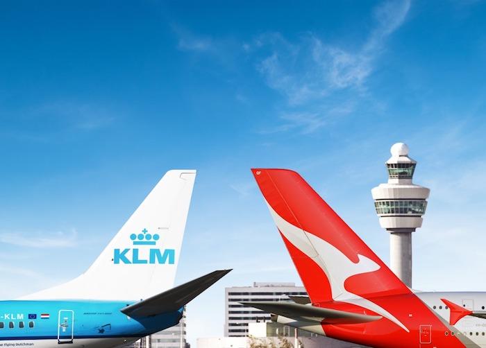 KLM, KLM Australia, KLM code-share  Qantas, linie lotnicze, KLM do Australii,