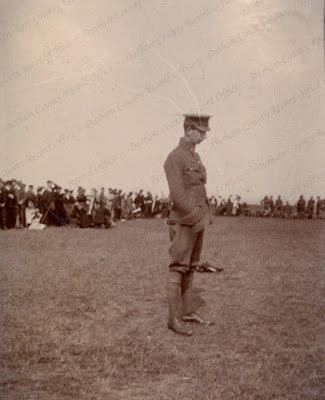 Lieutenant Leadbitter Smith, 4th Battalion, Durham Light Infantry, at a camp at Whitley Bay, 1904 (D/DLI 7/602/16(223))