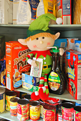 elf on the shelf advent bible study closet snacking