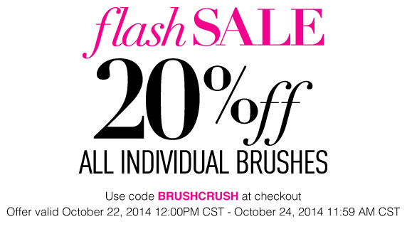 Sigma 20% Off Individual Makeup Brushes Flash Sale!
