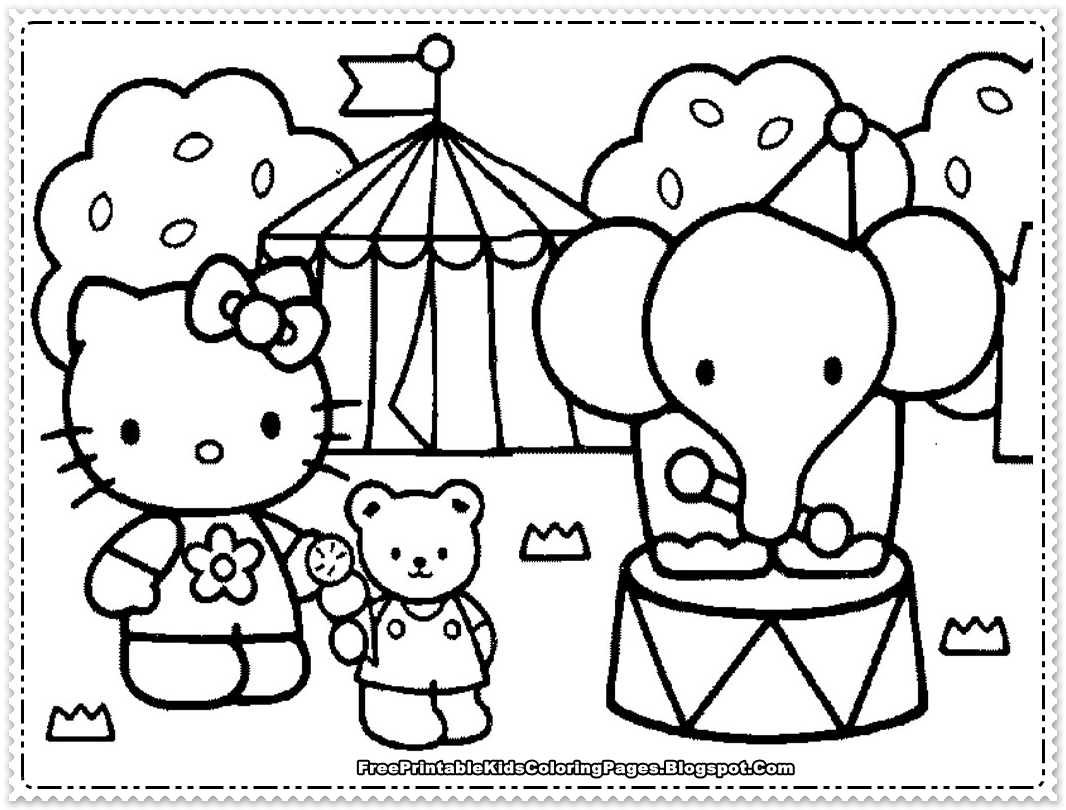 hello kitty coloring pages for girls free printable kids coloring pages