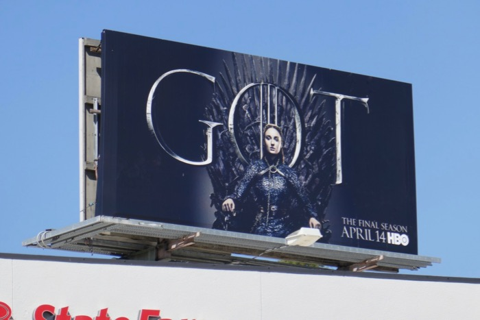Game of Thrones final season 8 Sansa Stark billboard
