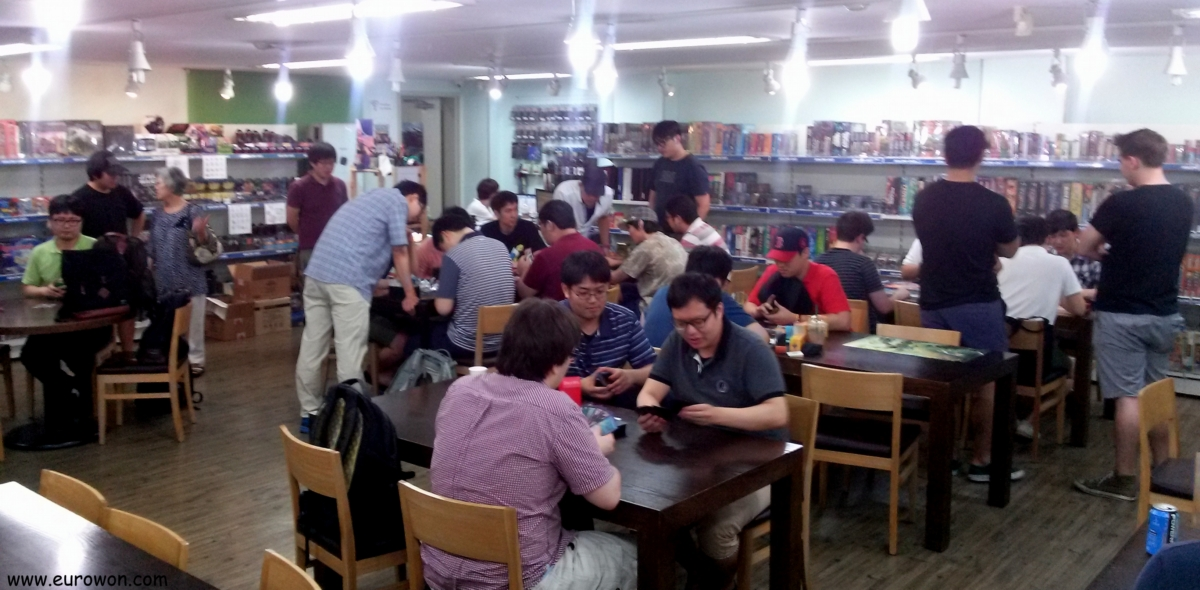Una tienda de Magic: The Gathering en Corea