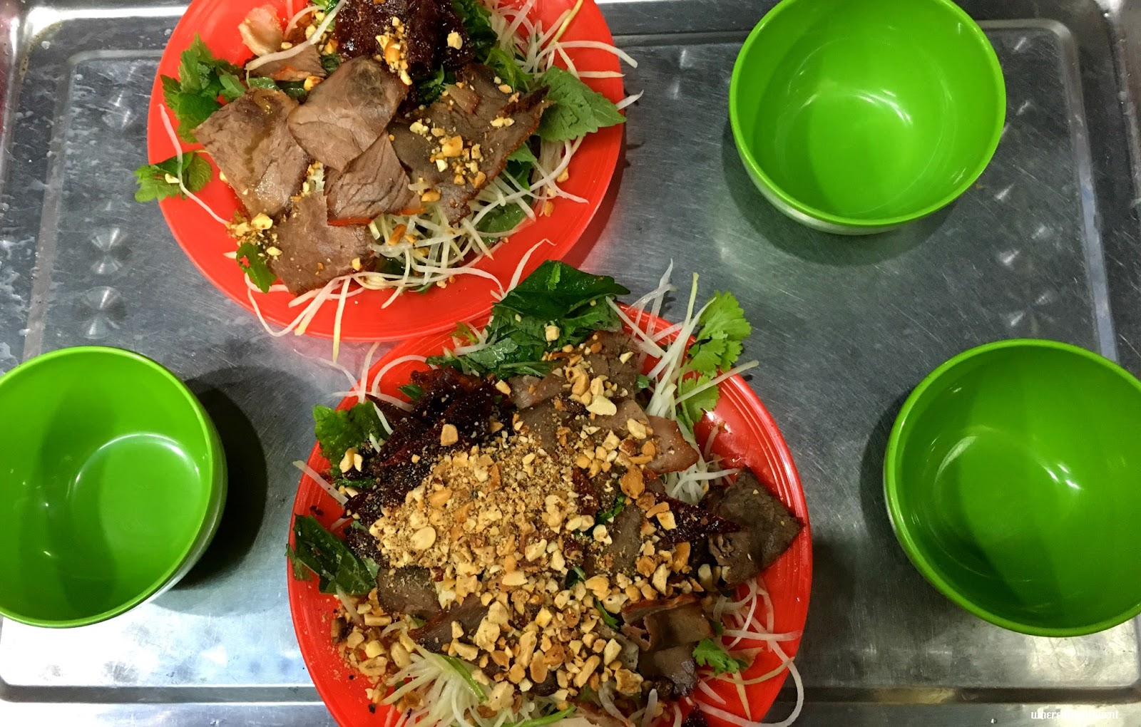 Hanoi Street Food Papaya Salad