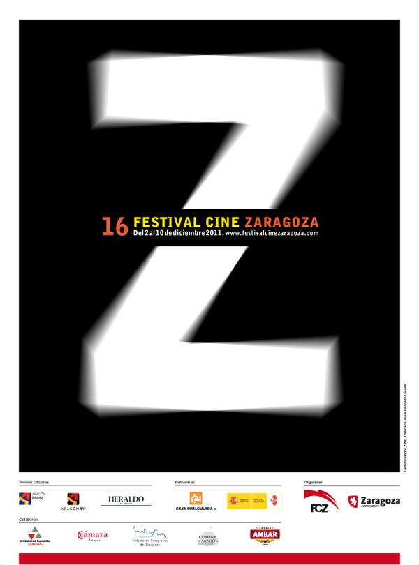Póster 16ª edición del Festival de cine de Zaragoza