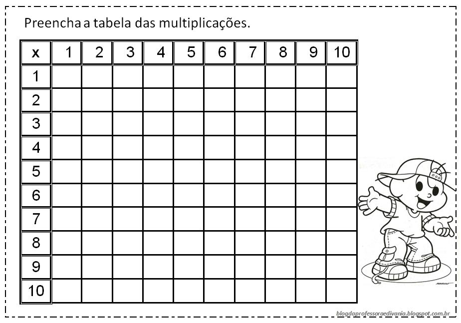 23 09 B 1 Atividades Preparatórias 2 Ofertas: Blog Da Professora Edivania: TABELA DE MULTIPLICAÇÃO