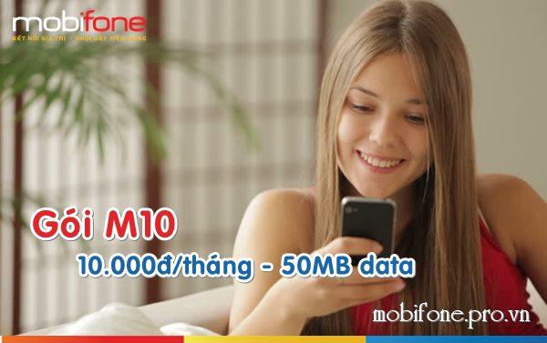 Đăng ký gói M10 Mobifone nhận 50MB data