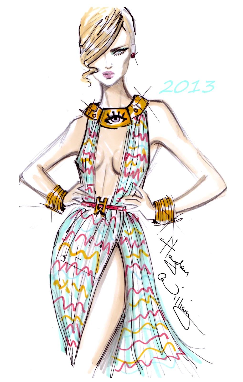 Fashion Illustration Royalty Free Stock Photo: Hayden Williams Fashion Illustrations: January 2013