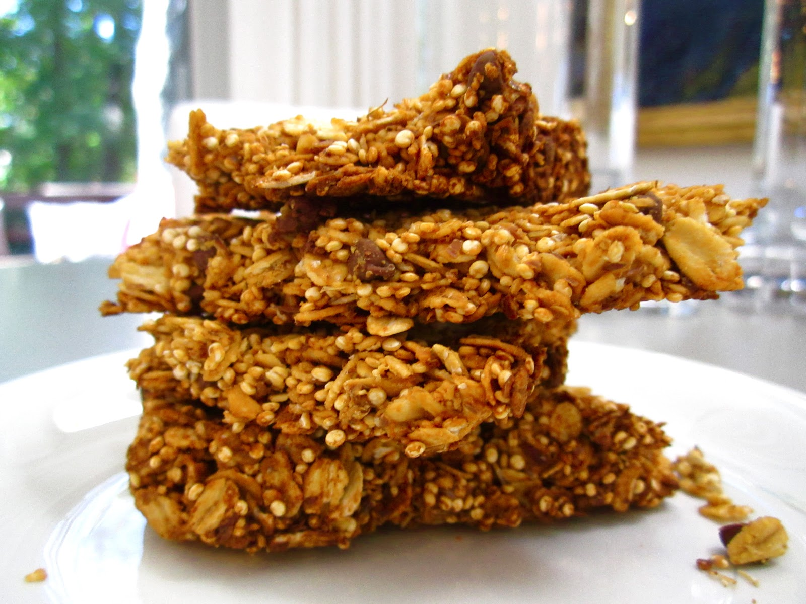 Healthy 5 Ingredient Toasted Quinoa Granola Bars - Confectionary